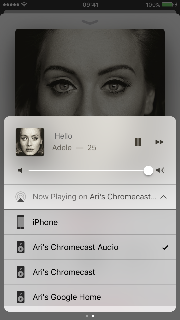 Apple Music Casting to a Chromecast Audio